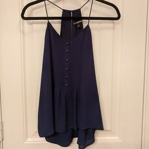 Express cami top with buttons and pleats